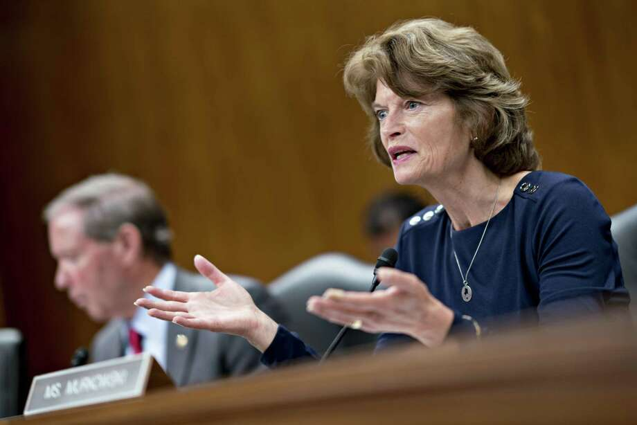 Senator Lisa Murkowski, a Republican from Alaska and chairman of the Senate Appropriations Subcommittee on the Interior and Environment, questions Scott Pruitt, administrator of the Environmental Protection Agency (EPA), not pictured, during a hearing in Washington, D.C., U.S., on Wednesday, May 16, 2018. Pruitt faced intense criticism in his first Senate testimony since a crush of ethical allegations that have put his job in jeopardy. Photo: Andrew Harrer /Bloomberg / © 2018 Bloomberg Finance LP