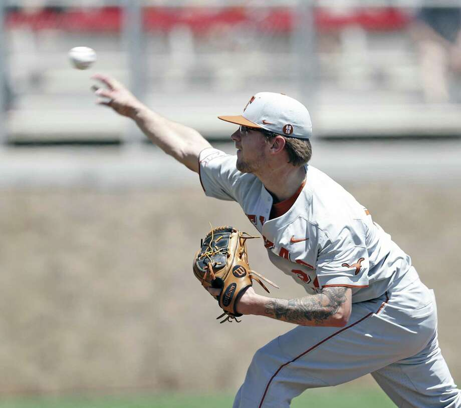 Texas' Chase Shugart pitches against Texas Tech on May 5 in Lubbock. Photo: Brad Tollefson /Associated Press / Lubbock Avalanche-Journal