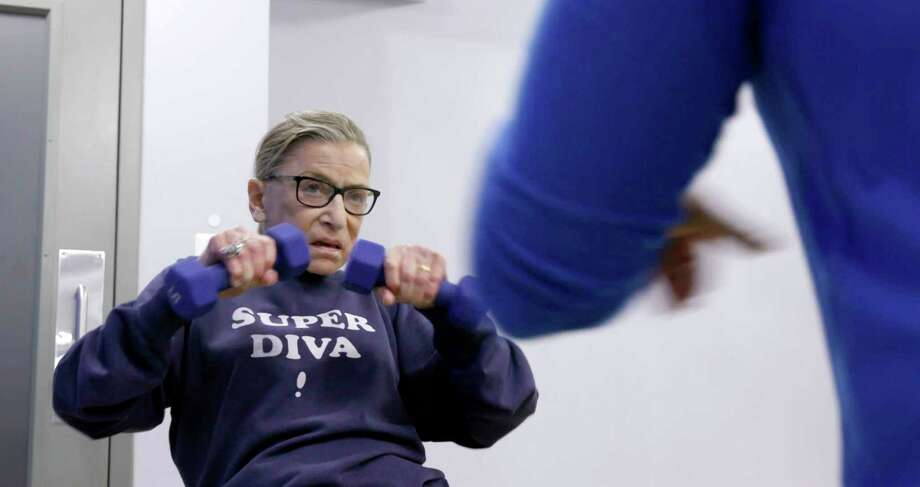 "This image released by Magnolia Pictures shows U.S. Supreme Court justice Ruth Bader Ginsberg in a scene from ""RBG."" (Magnolia Pictures via AP) / Magnolia Pictures"