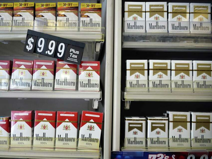 Cigarettes for sale at Coulson's at Newton Plaza Wednesday Feb. 5, 2014, in Colonie, NY. (John Carl D'Annibale / Times Union)