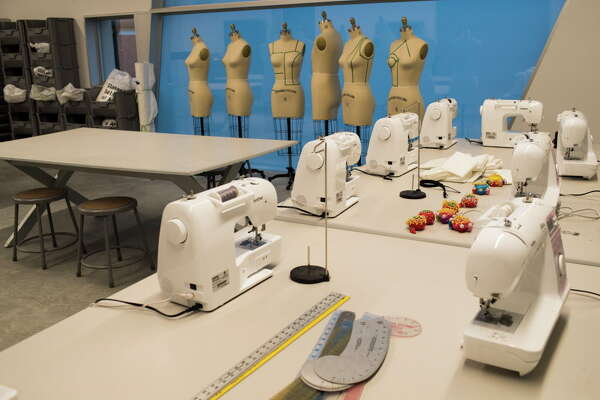 Studio space for sewing classes at the Glassell School of Art, Tuesday, May 15, 2018, in Houston.