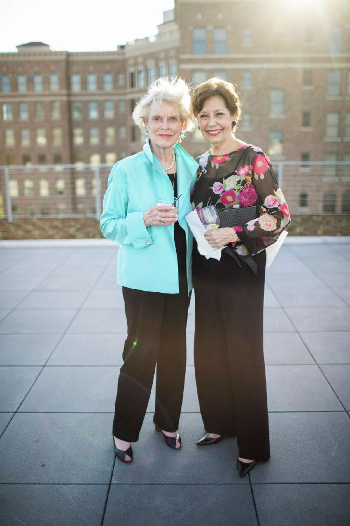 Guests attend the Glassell School of Art cocktail party, Tuesday, May 15, 2018, in Houston.