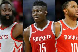 James Harden, Clint Capela and Eric Gordon of the Rockets were announced Wednesday as finalists for the NBA's top awards to be presented June 25 in Los Angeles.