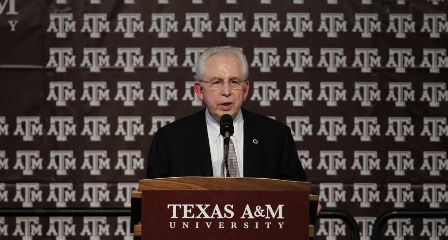 COLLEGE STATION, TX - SEPTEMBER 26:  Southeastern Conference commissioner Mike Slive speaks during a pep rally for the Texas A&M Aggies accepting an invitation to join the Southeastern Conference on September 26, 2011 in College Station, Texas. (Photo by Aaron M. Sprecher/Getty Images) Photo: Aaron M. Sprecher/Getty Images