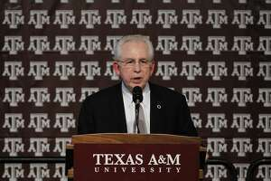 COLLEGE STATION, TX - SEPTEMBER 26:  Southeastern Conference commissioner Mike Slive speaks during a pep rally for the Texas A&M Aggies accepting an invitation to join the Southeastern Conference on September 26, 2011 in College Station, Texas. (Photo by Aaron M. Sprecher/Getty Images)