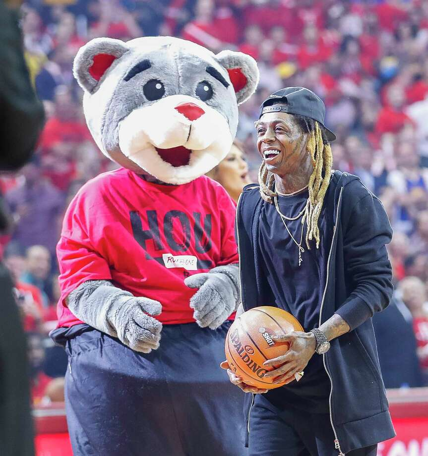 PHOTOS: How celebrities have done on the First Shot before Rockets games this season Lil' Wayne takes the first shot before the start of Game 2 of the Western Conference Finals at the Toyota Center, Wednesday, May 16, 2018, in Houston. Browse through the photos above to see how each celebrity has done on the First Shot before Rockets games this season. Photo: Michael Ciaglo, Houston Chronicle / © 2018 Houston Chronicle
