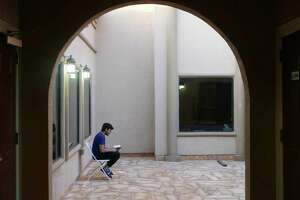 A man prays at the Muslim Children Education and Civic Center on Wednesday, May 16, 2018, which is the first day of Ramadan, a month of prayer, dawn-to-dusk fasting and feasts which begin after sunset. The MCECC is one of the city's largest mosques. There are an estimated 30,000 Muslims in San Antonio.