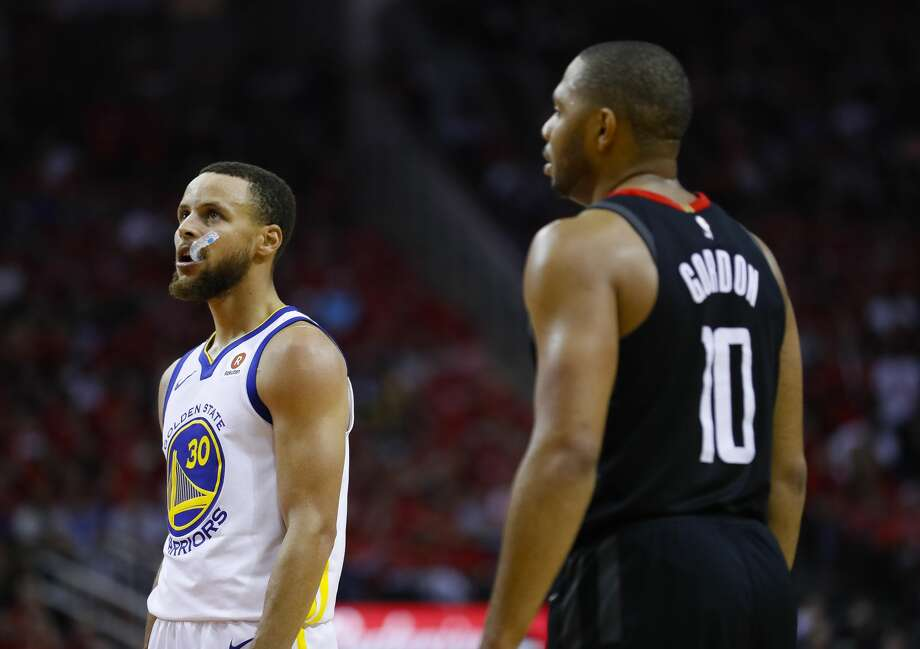 Golden State Warriors guard Stephen Curry (30) reacts during the second half of Game 2 of the Western Conference Finals at the Toyota Center, Wednesday, May 16, 2018, in Houston. ( Michael Ciaglo  / Houston Chronicle ) Photo: Michael Ciaglo/Houston Chronicle