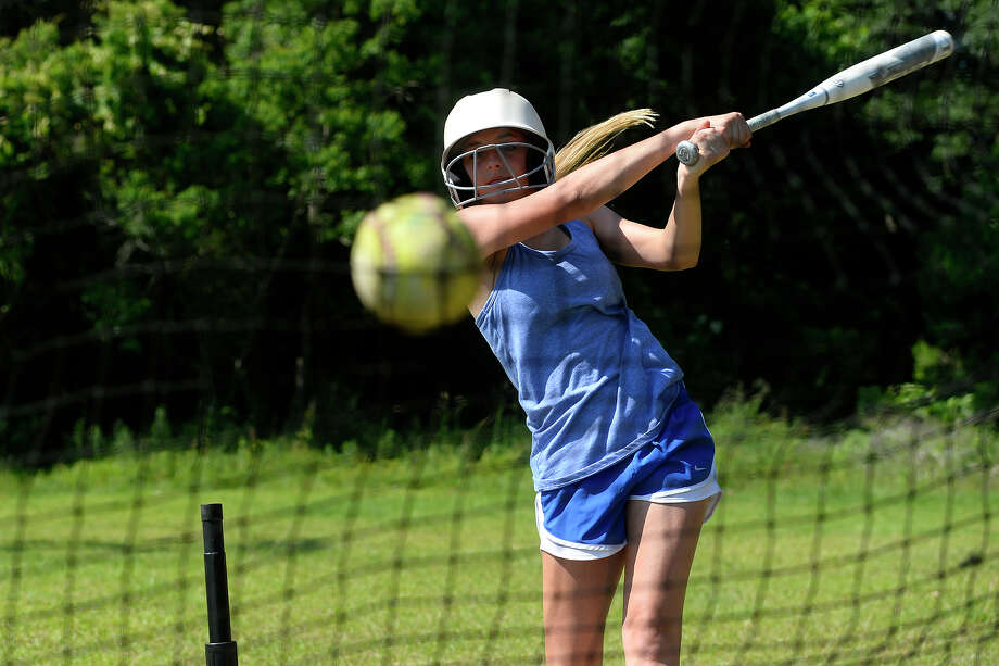 Buna softball player Kenedi Goldman hits during practice on Wednesday, May 16.  Photo taken Wednesday 5/16/18 Ryan Pelham/The Enterprise Photo: Ryan Pelham / ©2018 The Beaumont Enterprise/Ryan Pelham