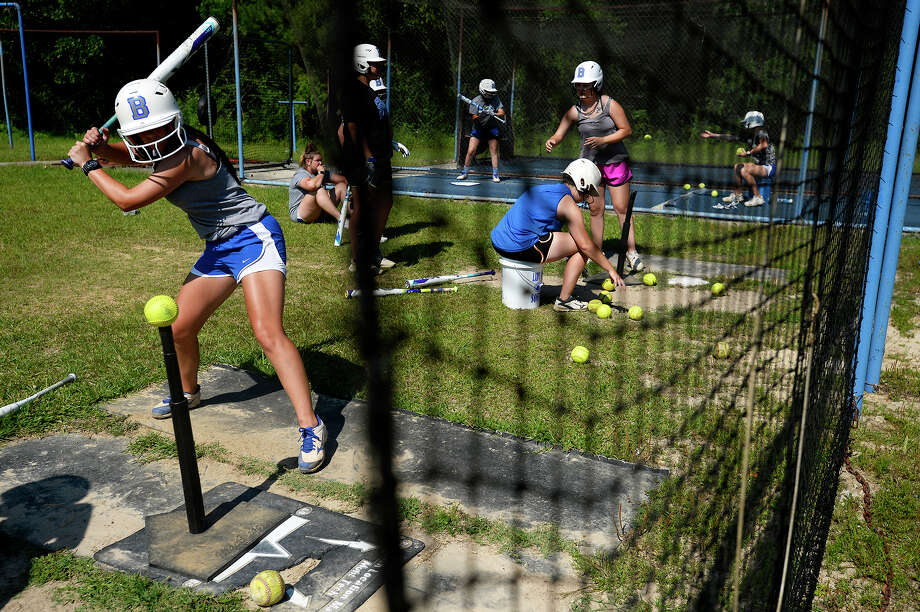 Buna softball players taking batting practice during practice on Wednesday, May 16.  Photo taken Wednesday 5/16/18 Ryan Pelham/The Enterprise Photo: Ryan Pelham / ©2018 The Beaumont Enterprise/Ryan Pelham