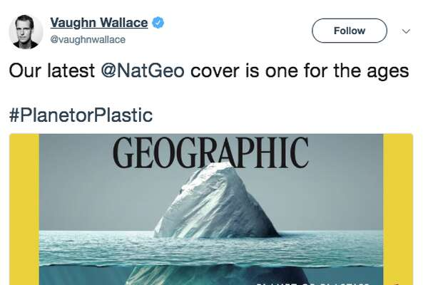 """National Geographic's June 2018 """"Planet or Plastics?"""" cover by Vaughn Wallace has a lot of people talking."""