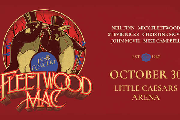 Oct. 30: Fleetwood Mac with Mick Fleetwood, John McVie, Stevie Nicks, Christine McVie, Mike Campbell, Neil Finn at Little Caesars Arena, www.313presents.com