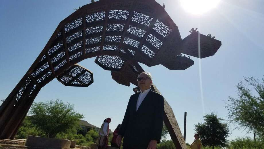 """""""CoCobijos,"""" a public art installation by artist Mel Chin, is being unveiled to the public at Mission County Park. Photo: Courtesy San Antonio River Foundation"""