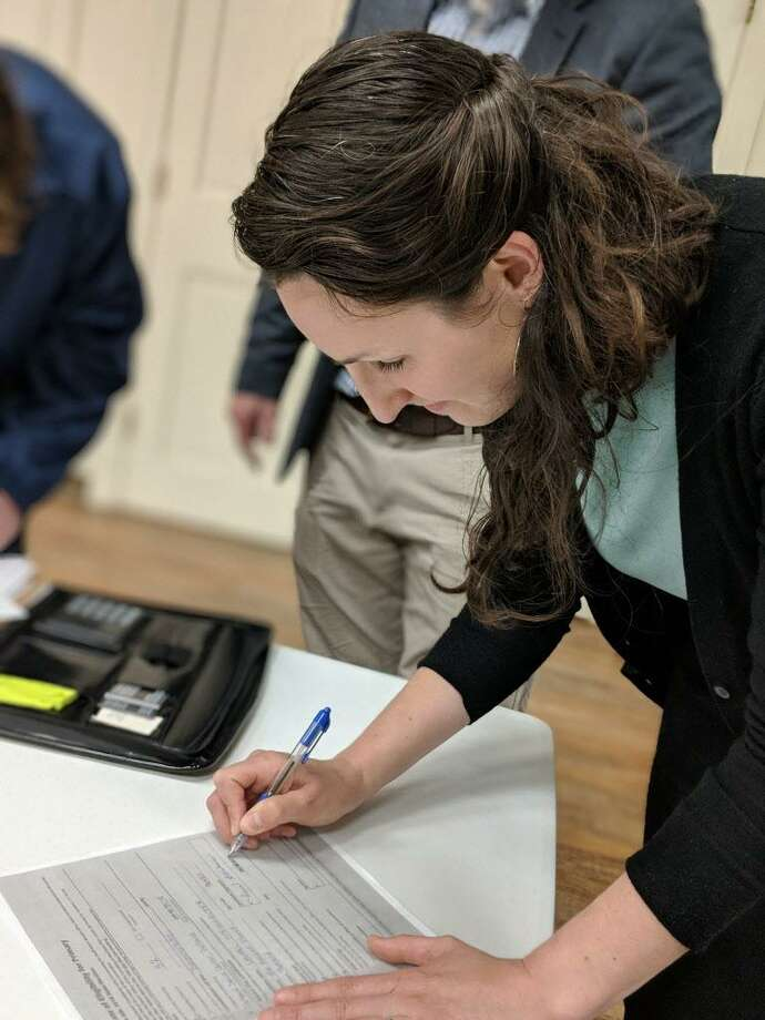 Portland resident Laurel Steinhauser received the unanimous endorsement of the Democratic Convention for the 32nd State House District Wednesday evening. Photo: Contributed Photo