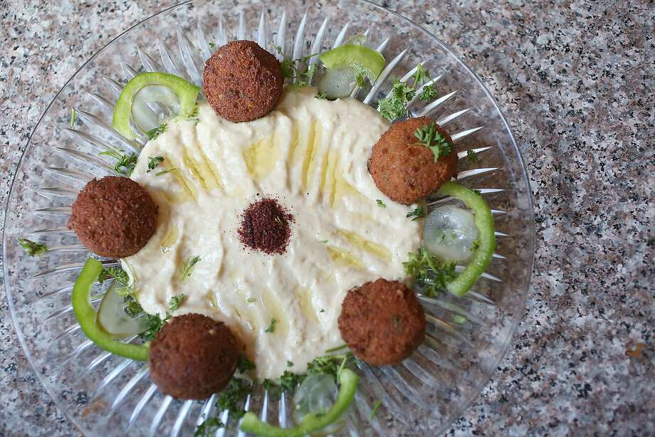 Falafel plate at Z Zoul Cafe in the Tenderloin. Photo: Liz Hafalia / The Chronicle