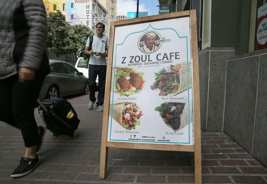 The sign outside Z Zoul Cafe in the Tenderloin. Photo: Liz Hafalia / The Chronicle