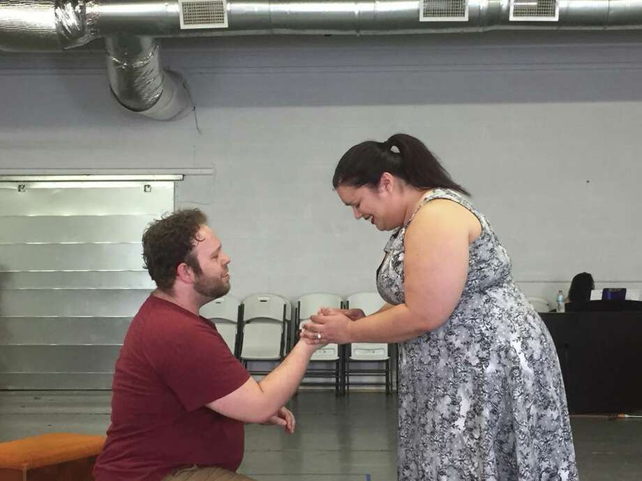 "In the photo:Travis and Annie Burge reheaese.They portray a couple examining their relationship in ""The Last Five Tears"". Photo: Courtesy Photo"
