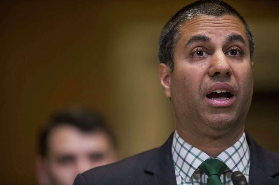 FCC Chairman Ajit Pai speaks during a Senate Appropriations Subcommittee hearing in Washington on May 17, 2018. Photo: Bloomberg Photo By Zach Gibson. / © 2018 Bloomberg Finance LP