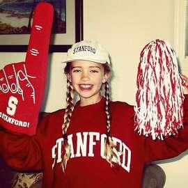 Distance runner Vanessa Fraser was decked out in Stanford gear in third grade.