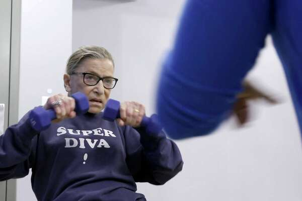 "This image released by Magnolia Pictures shows U.S. Supreme Court justice Ruth Bader Ginsberg in a scene from ""RBG."" (Magnolia Pictures via AP)"