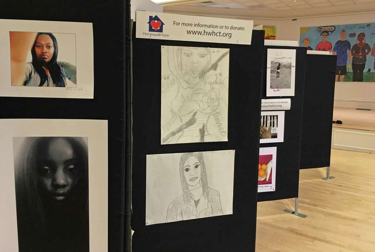 """The Drew Friedman Community Arts Center foundation celebrates its first art show on Thursday, May 17, 2018, at the Westport Womans Club. The show, """"HeARTS Open Wide,"""" features work by local artists from several nonprofits, including CLASP Homes, Project Return, Homes with Hope, Westport Arts Center and Westport Historical Society. The reception runs from 5 to 8 p.m., Thursday, May 17, 2018."""