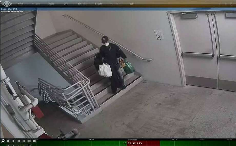 A man stole an unknown number of items over the weekend from 250 Frank Ogawa Plaza — a main city administrative building.