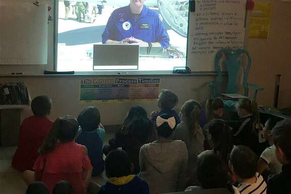 Last week, Piney Woods Elementary School fourth graders from Mrs. Barbara Hua's and Mrs. Sheila Flynn's classes participated in a free webinar with 43 other schools from across the world. The webinar on hurricanes was offered to 4th, 5th, and 6th grade students as part of the 2018 Hurricane Preparedness Week and the National Oceanic and Atmospheric Administration (NOAA) Hurricane Awareness Tour.