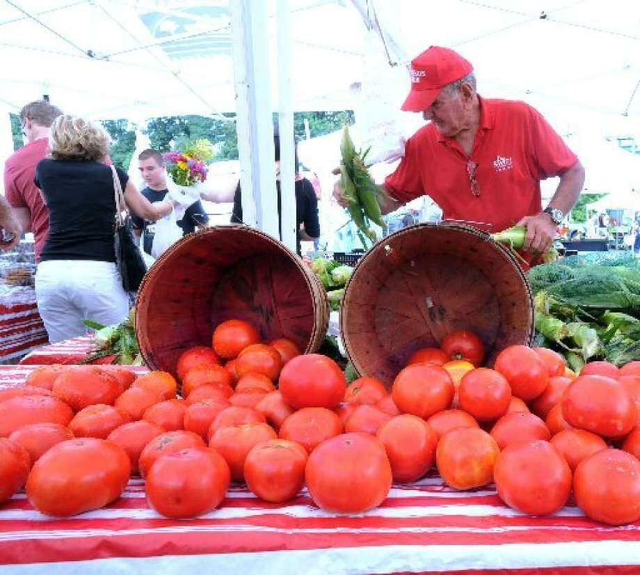 The Greenwich Farmers market is returning this Saturday. Photo: File / Photo: / Bob Luckey
