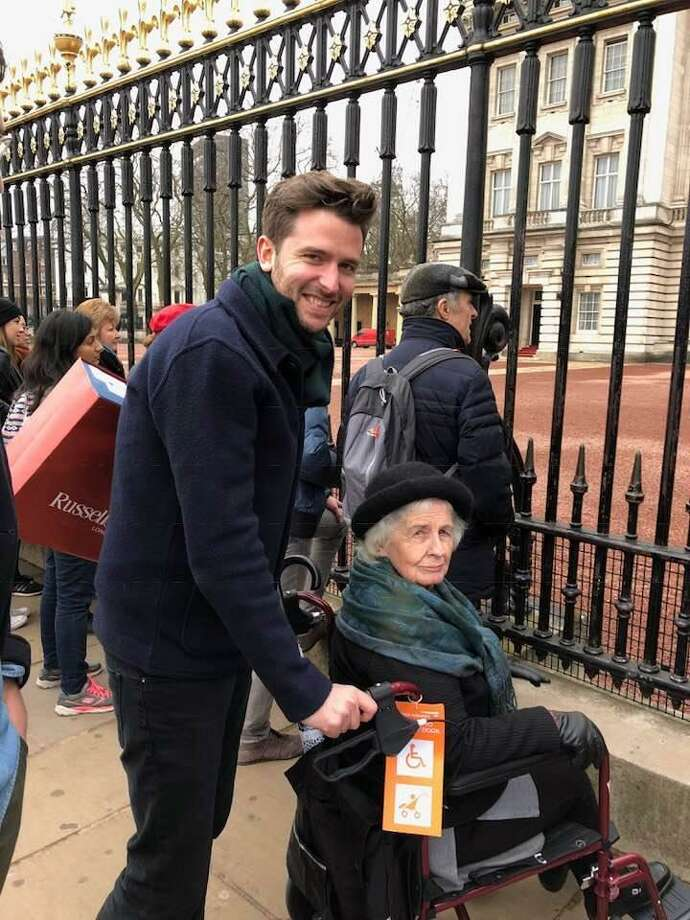 Jason Knauf, communications secretary for Kensington Palace, took his grandmother, Wanda Maddux, 86, of Conroe on a tour in London. He is an invited guest to the Royal Family's wedding and assisting with the coordination. Photo: Submitted Photos / Submitted Photos