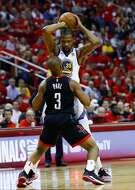 Houston Rockets guard Chris Paul (3) defends Golden State Warriors forward Kevin Durant (35) during the second half of Game 2 of the Western Conference Finals at the Toyota Center, Wednesday, May 16, 2018, in Houston. ( Michael Ciaglo  / Houston Chronicle )