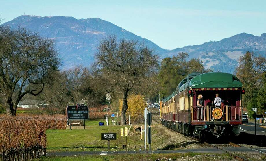 The Napa Valley Wine Train takes passengers to winery tasting rooms in Napa, California, in December 2017. Photo: John Storey /Special To The Chronicle / ONLINE_Yes