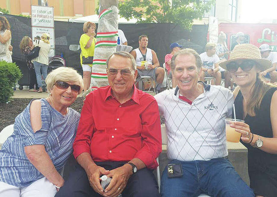Pictured from left to right are Carmen Viviano, next to her husband, Joe Viviano, who died March 10, and Joe's brother, Tony Viviano Jr., and Tony's daughter, Amy (Viviano) Merriott. Photo:       For The Telegraph