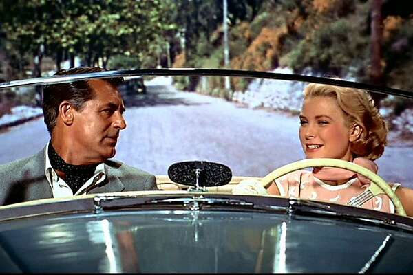 """Cary Grant and Grace Kelly in """"To Catch a Thief"""": no need to watch the road while driving in movies."""
