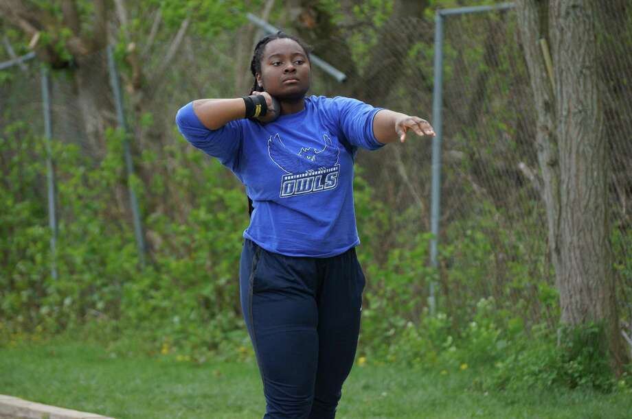 Southern Connecticut State's Destiney Coward, an East Haven native, is one of the best hammer throwers in NCAA Division II history. Photo: Southern Connecticut State Athletics / Contributed Photo / Stamford Advocate Contributed