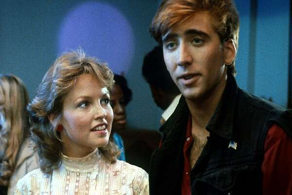 Deborah Foreman and Nicolas Cage in Valley Girl (1983).