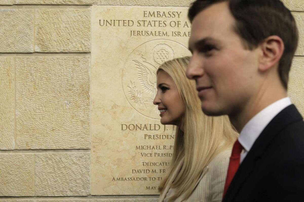 U.S. President Donald Trump's daughter Ivanka, left, and White House senior adviser Jared Kushner have met with representatives from the Hispanic community to set White House priorities.