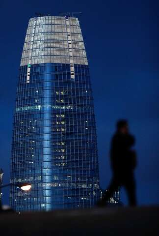Atop Salesforce Tower, one of the world's highest works of public