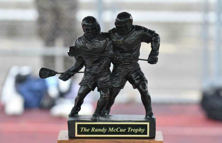 The Randy McCue Trophy was up for grabs as the Norwalk Bears and the Brien McMahon Senators faced off at Brien McMahon High School on Thursday May 17, 2018, in Norwalk, Connecticut. Photo: Gregory Vasil / For Hearst Connecticut Media / Connecticut Post Freelance