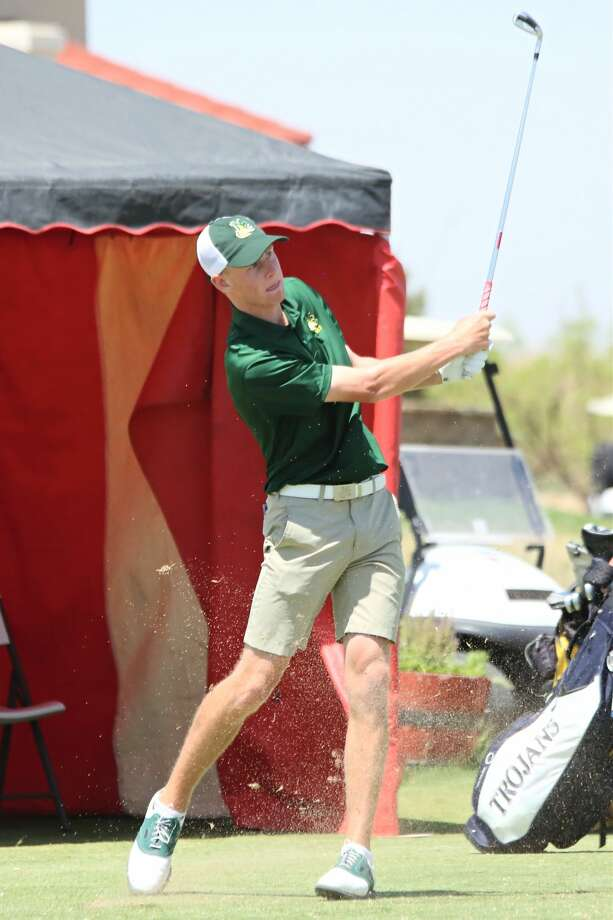 Midland College's Callum Bruce off the first tee in round three of the NJCAA National Championships at The Rawls Course in Lubbock. Forrest Allen/MC Athletics Photo: Forrest Allen/MC Athletics