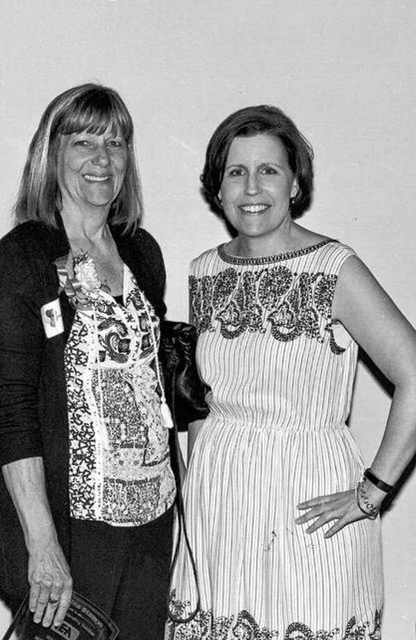 Award-winner Christina Stamps, left, and Karen Gall, Region 5 Chair. Photo:       For The Telegraph