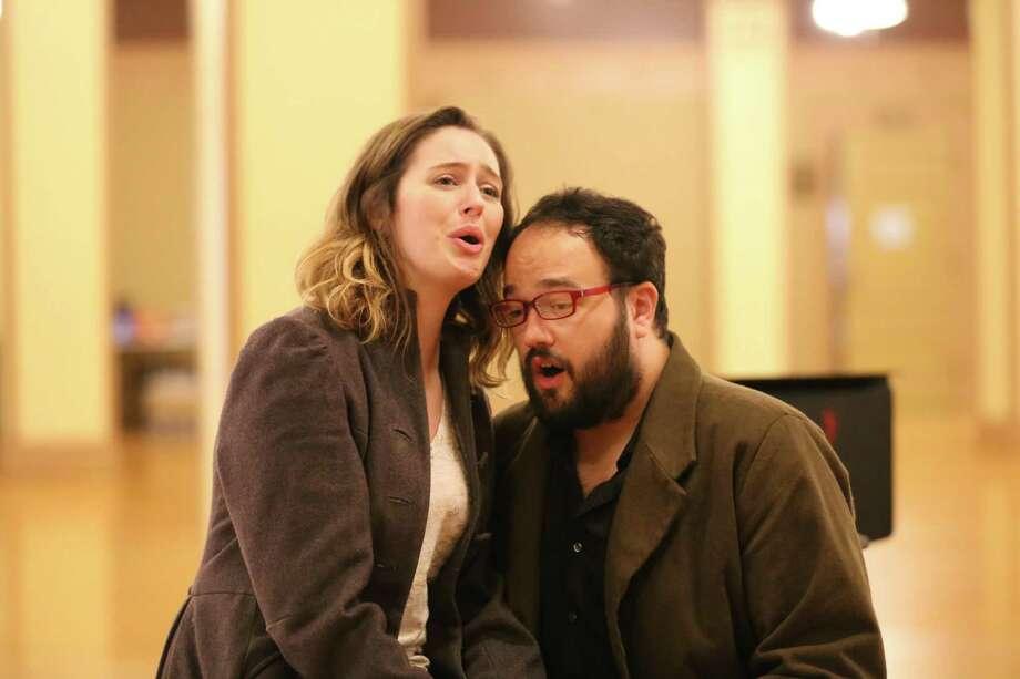 "Amanda Kingston and Derrek Stark play Mimi and Rodolfo in Opera San Antonio's staging of ""La Boheme."" Photo: Courtesy Opera San Antonio"