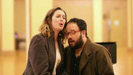 "Amanda Kingston and Derrek Stark play Mimi and Rodolfo in Opera San Antonio's staging of ""La Boheme."""