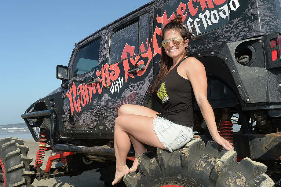 "Britney Ball was at the Topless Beach Party on Crystal Beach. The annual event continues through Saturday and this year features the BF Goodrich Unlimited Off-Road Show. The ""Jeep Resort"" site offers off-road courses, vendors, music, camping, and entertainment. Photo taken Wednesday, May 17, 2018 Kim Brent/The Enterprise Photo: Kim Brent / BEN"