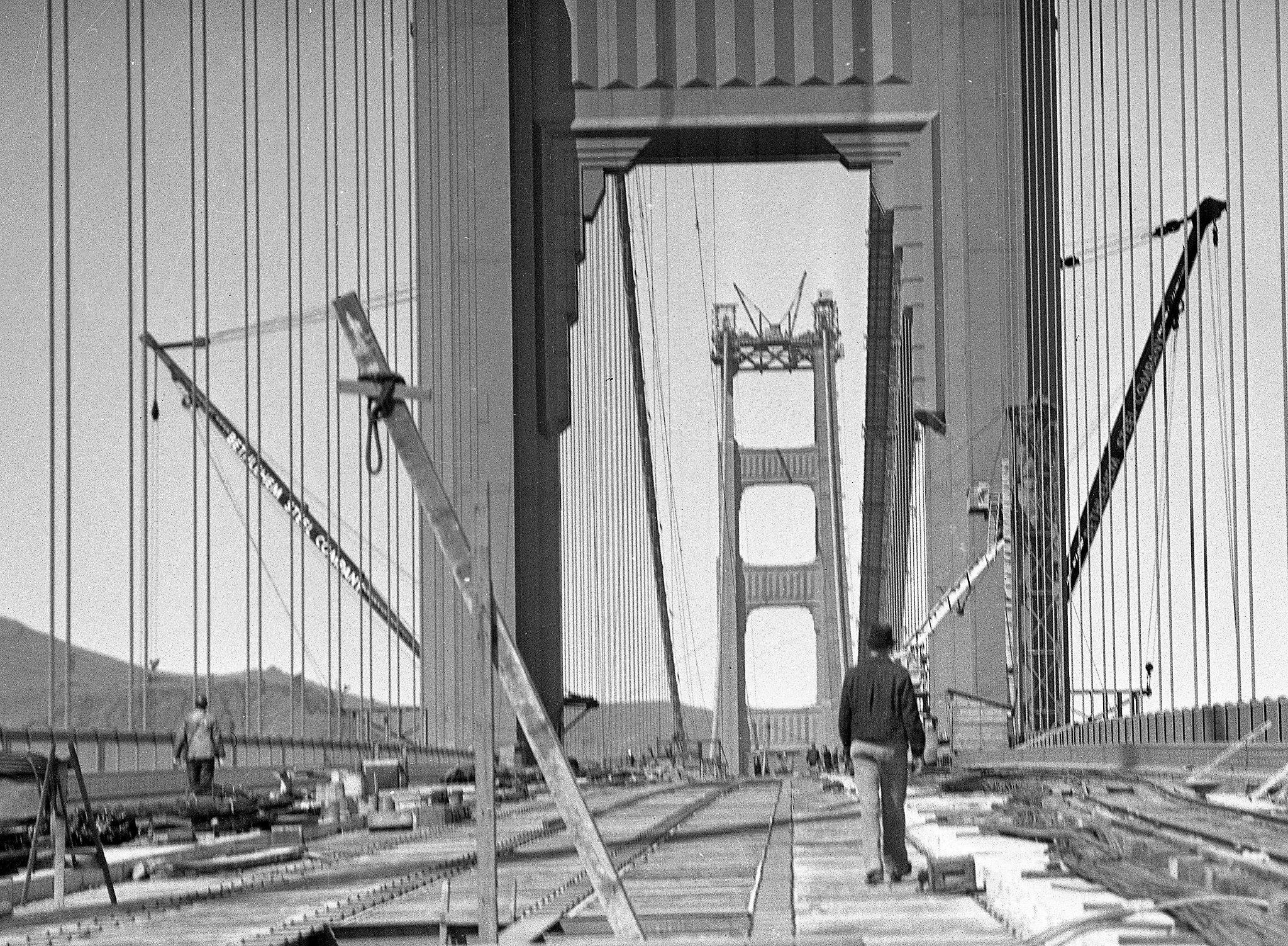 1930s Golden Gate Bridge Construction Photos Rescued From