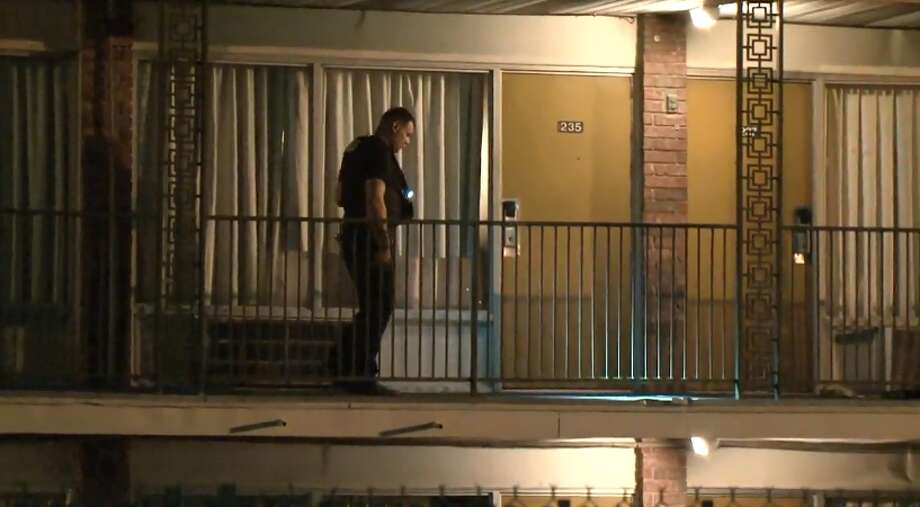 One man was found shot at the Astro Inn on Cavalcade and I-45, on Friday, May 18, 2018. Photo: Metro Video