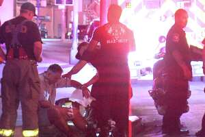 The driver hit the victim, who is in his 40s, around 10:35 p.m. near North Alamo and 3rd Street.