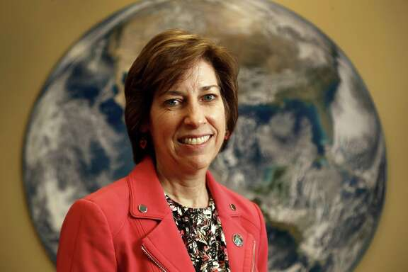 Dr. Ellen Ochoa, a veteran astronaut, is the eleventh director of the Johnson Space Center. She is JSC's first Hispanic director, and its second female director, photographed Wednesday, March 21, 2018, in Houston. She is retiring May 25.