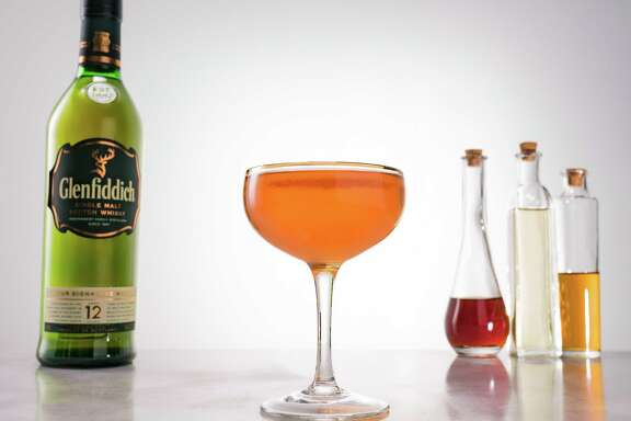 Glenfiddich Royal Highlander2 parts   Glenfiddich 12½ part    Sweet Vermouth ½ part    Cocchi Americano Benedictine RinseSparkling Wine, to top Instructions: Pour ½ ounce of Benedictine in a coupe, swirl and discard.  Add remaining ingredients except the sparkling wine to a mixing glass and stir with ice.  Strain into the Benedictine rinsed coup.  Top with approximately an ounce of dry or off-dry sparkling wine.