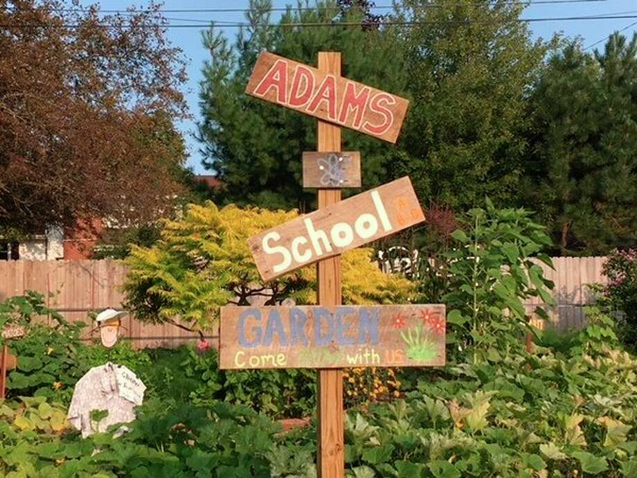 Despite a cold and late spring, the Adams garden has been buzzing with student activity. (Photo provided)