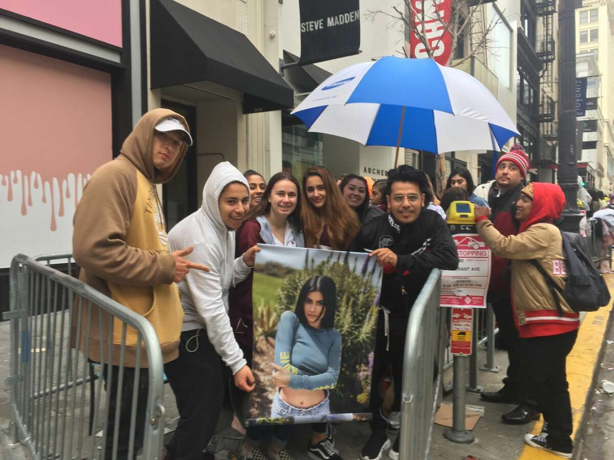 Kardashian-crazed fans wait in line for the Kylie Jenner Pop Up Store to open on May 18, 2018.